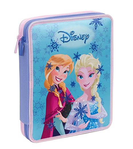 Estuche 2 Cremalleras Maxi Disney , Frozen Magic Lights ...