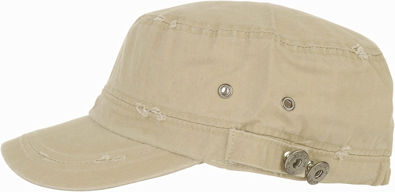 WITHMOONS Cadet Cap Cotton Vintage Distressed Washed Hat CR4267