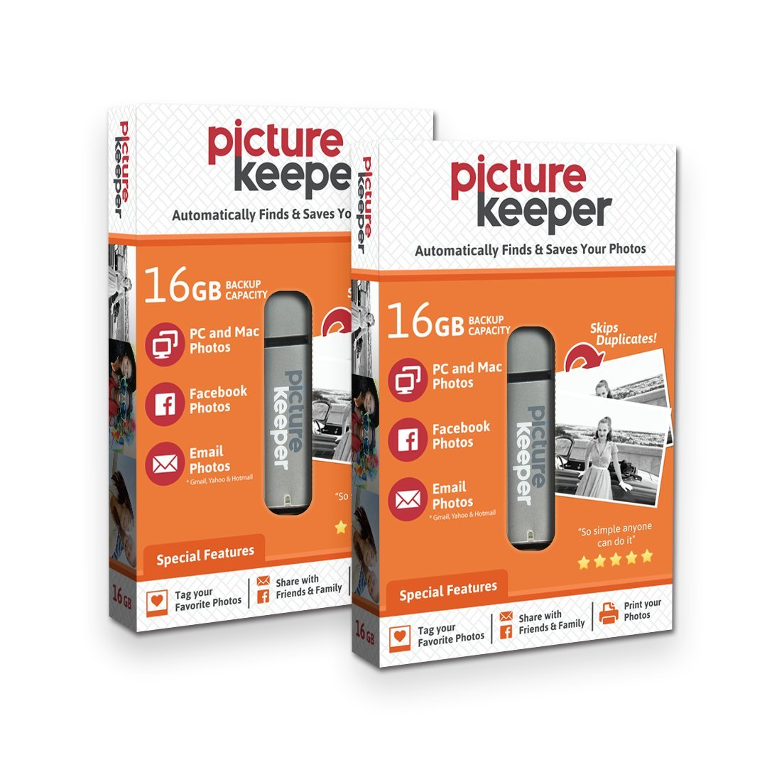 Picture Keeper 32GB Portable Flash USB Photo Backup and Storage Device for PC and MAC Computers Simplified IT Products 32GBPKBX
