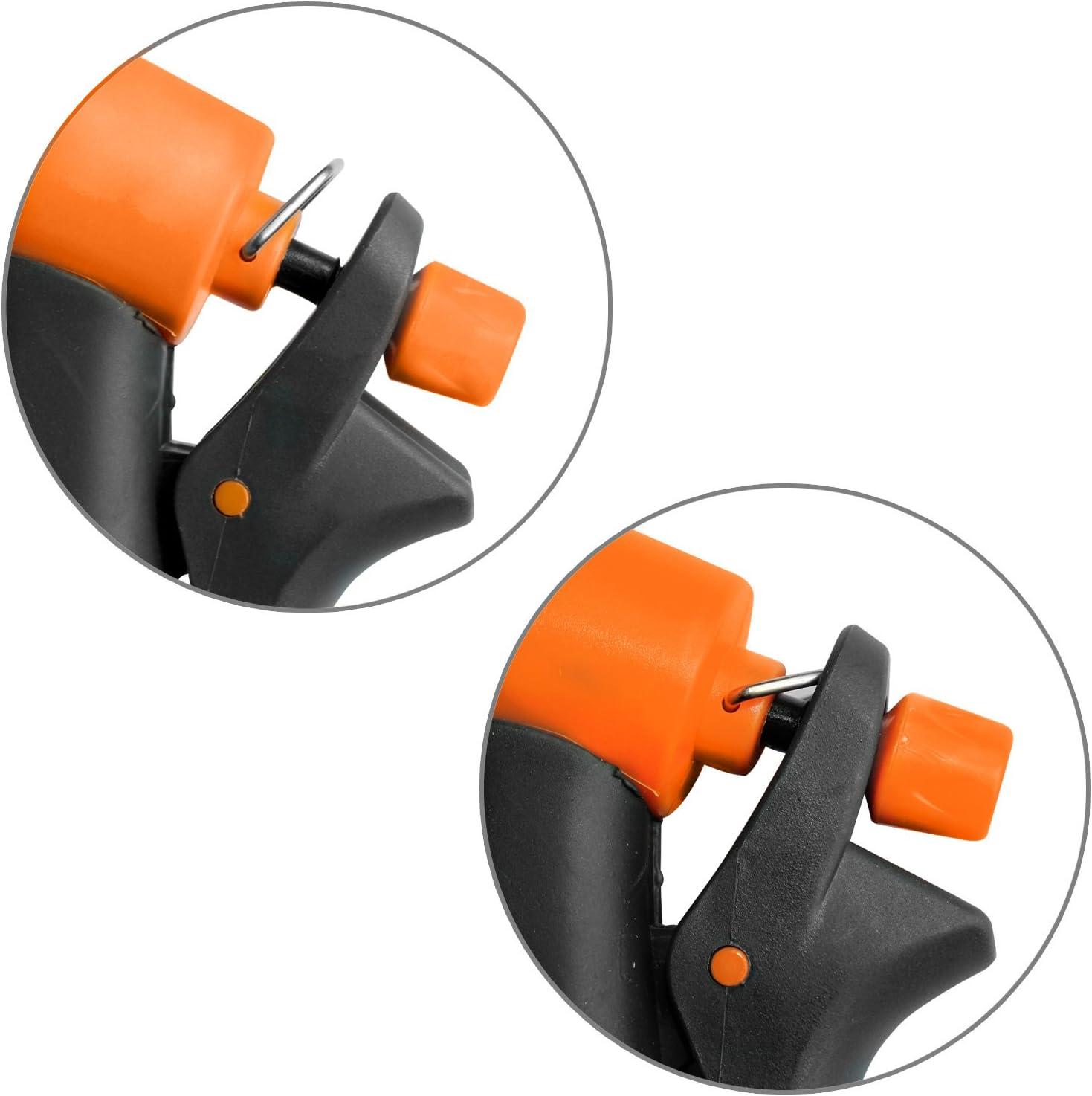 Eaxus/®️ Garten Multifunktions-Brause mit 8 Funktionen Orange. Spr/üh-Pistole//Gartenbrause f/ür Ihren Gartenschlauch mit gummiertem Griff und Spr/ühautomatik