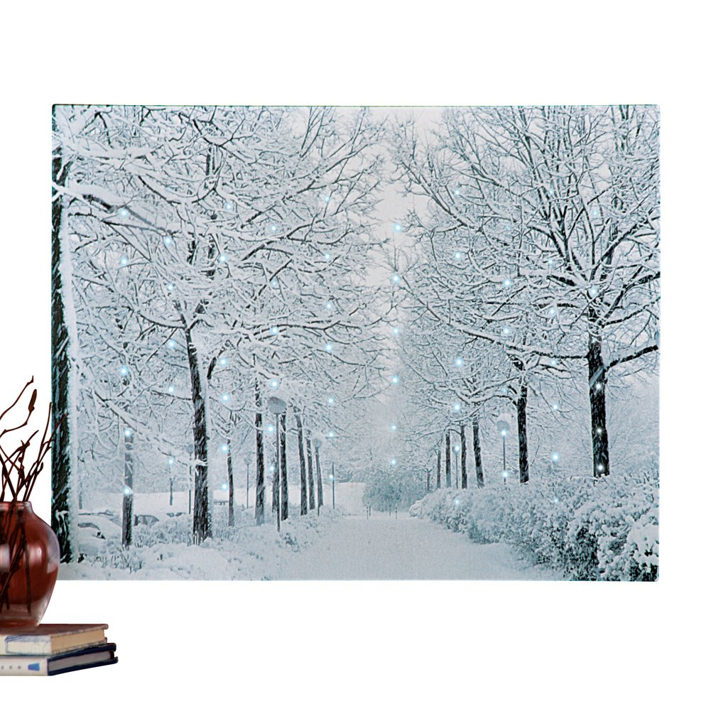 Shop amazon paintings fiber optic winter wonderland canvas wall art sciox Images