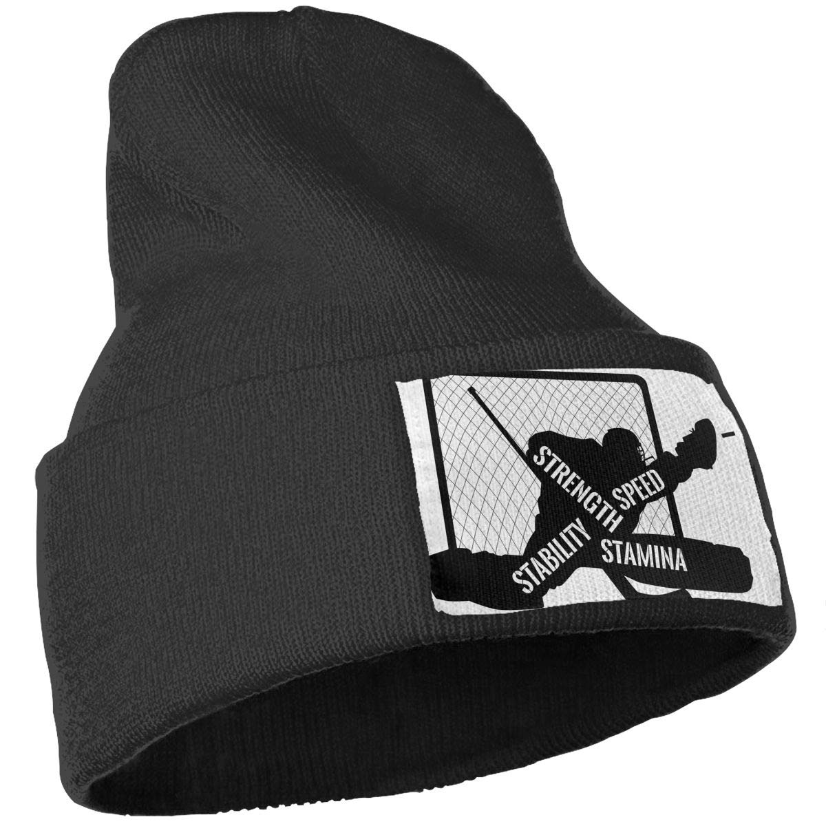 QZqDQ Hockey Goaltender Unisex Fashion Knitted Hat Luxury Hip-Hop Cap