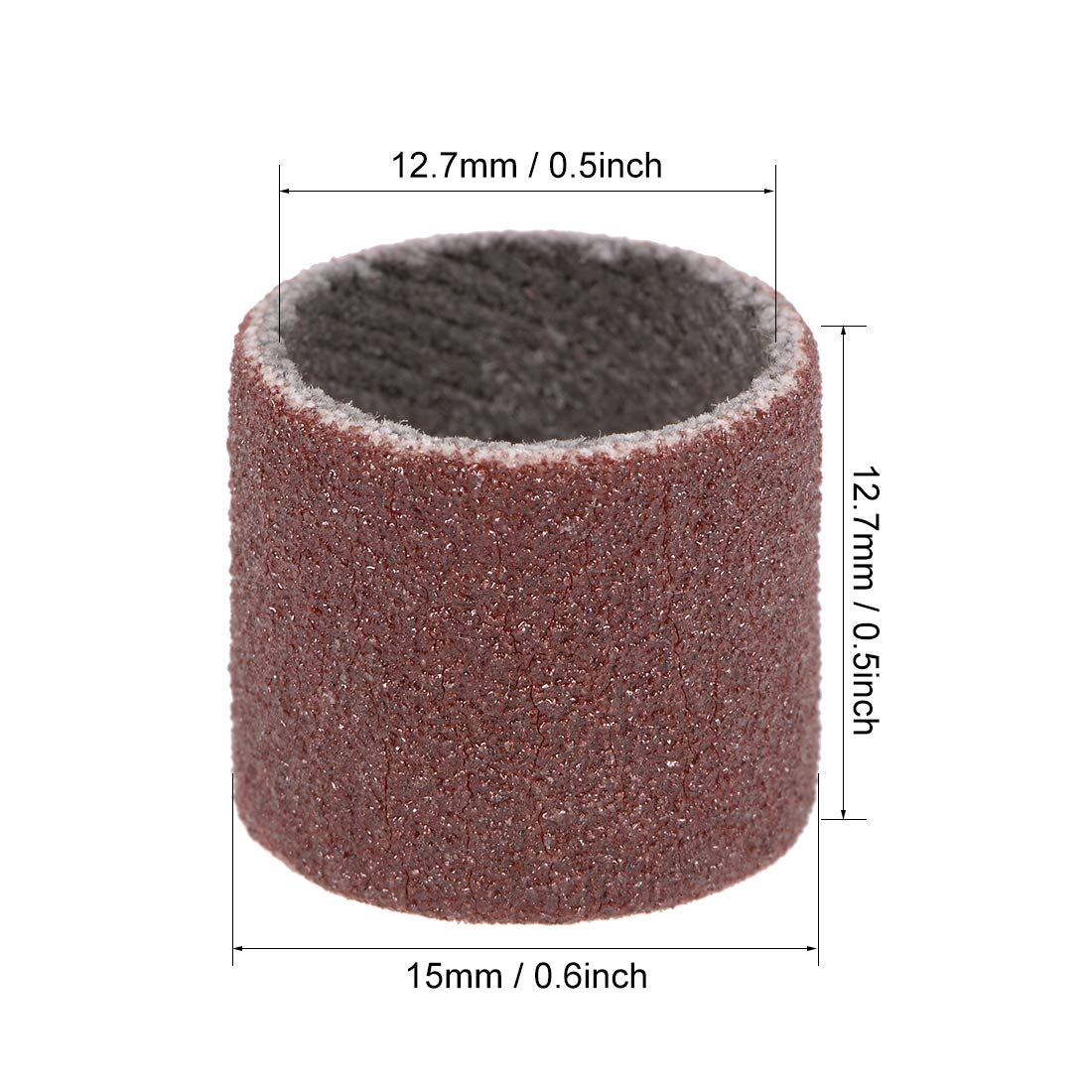 uxcell 1//2 inch x 1//2 inch Sanding Sleeves 80 Grits Sandpapers Band Drums 5 Pcs