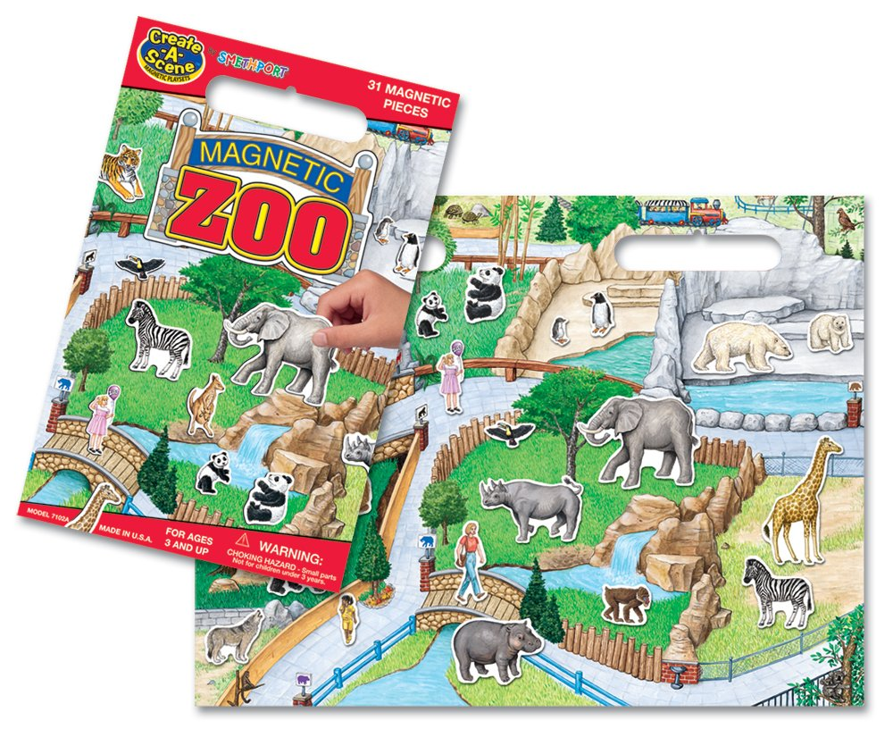 Create-A-Scene Magnetic Playset - Zoo by PlayMonster