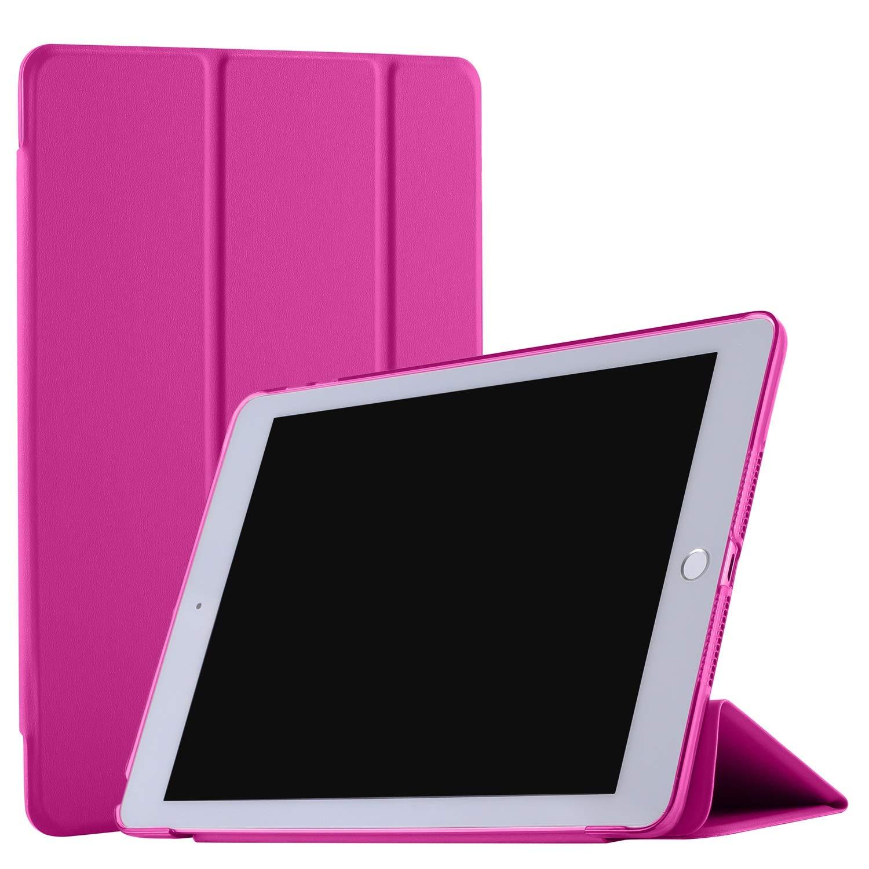 """DuraSafe 三つ折り ウルトラスリム スマートカバーケース 半透明バック iPad PRO 12.9"""" 2nd Gen(2017) DSTriFold1217 iPad PRO 12.9\ ピンク B07LG2SBWS"""