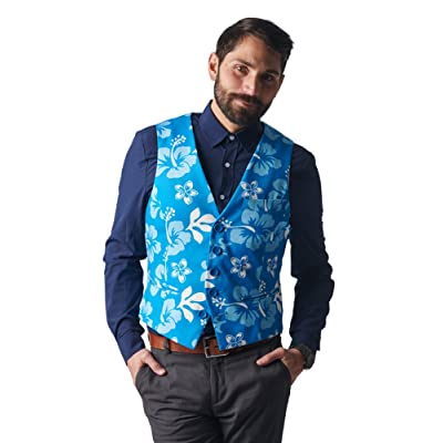 Stir Clothing Co. The Big Kahuna Hawaiian Floral Print Vest at Amazon Men's Clothing store
