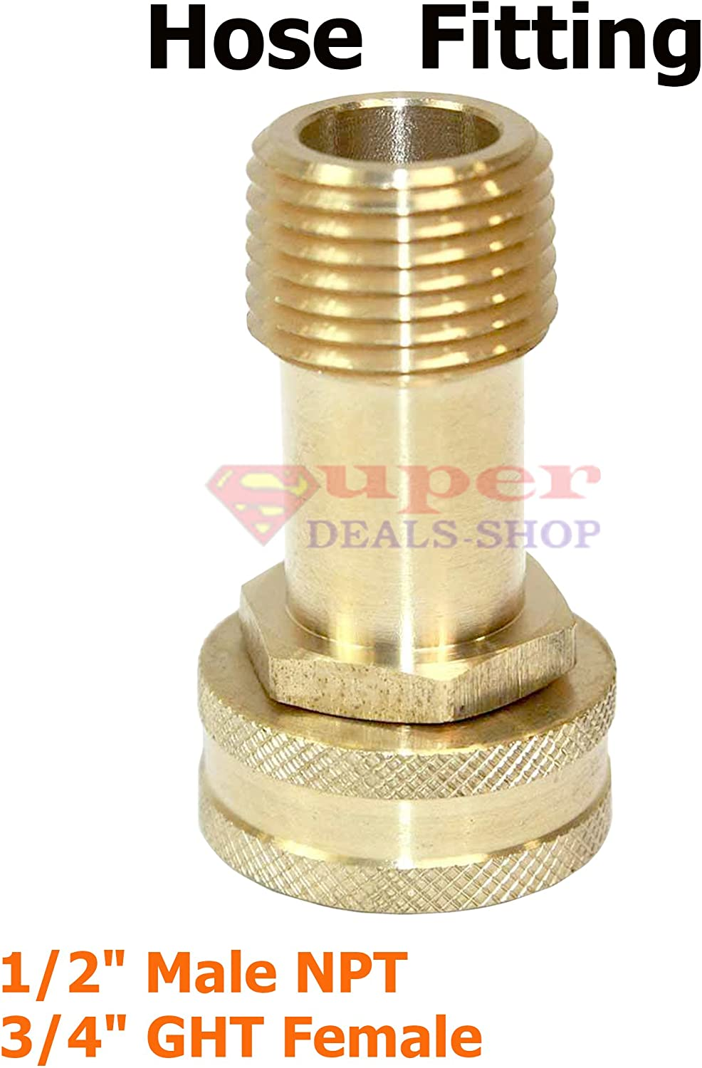 """Brass Barbed /""""Y/"""" Splitter Joiner Connector Pipe Fitting Air Fuel Hose Ji"""