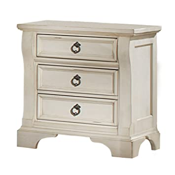 Amazon.com: American Woodcrafters Heirloom Nightstand, Antique White:  Kitchen U0026 Dining