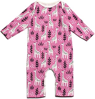 product image for Winter Water Factory Long Sleeve Organic Cotton Romper Coverall, Boys, Girls, Unisex Baby