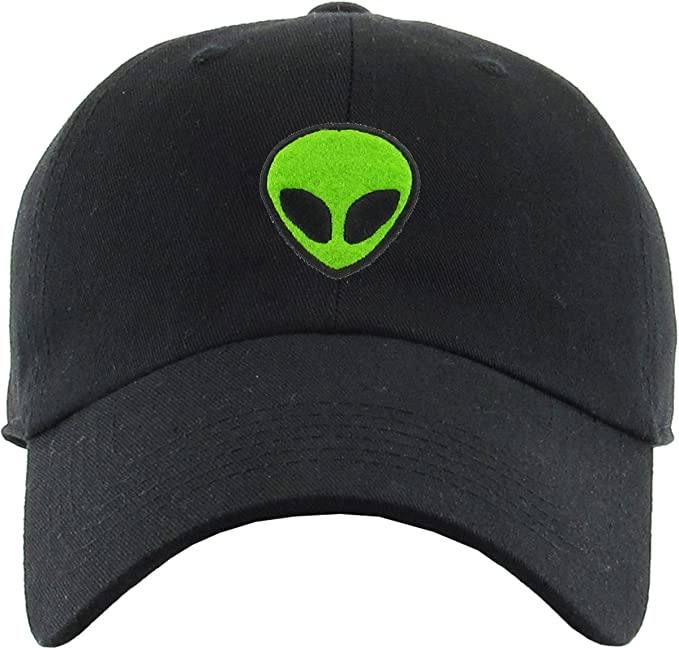 b34c9e4a2f8 H-214-ALIEN06 Dad Hat Unconstructed Low Profile Baseball Cap - Alien (Black