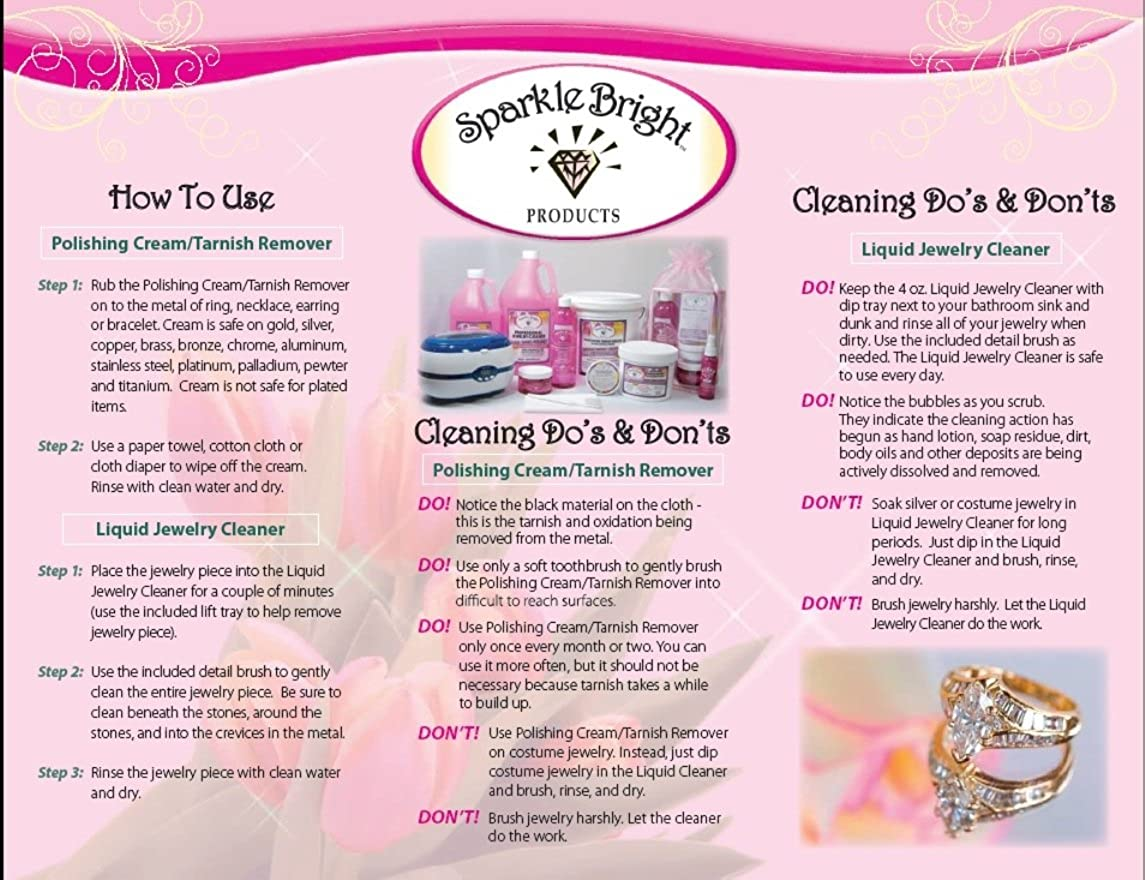 Amazon.com: Sparkle Bright All-Natural Jewelry Cleaner Solution ...