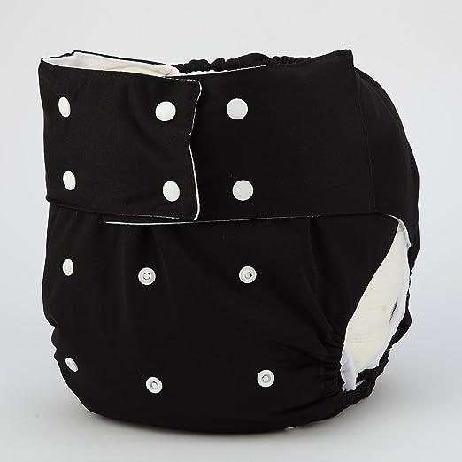 Cubierta de pañales para adultos reutilizable lavable y ajustable para personas con discapacidad incontinencia: Amazon.es: Salud y cuidado personal