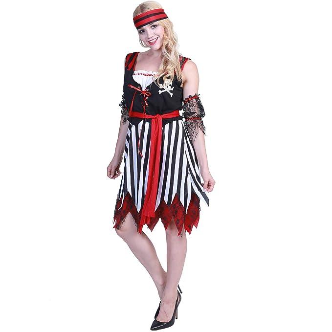 EraSpooky Mujer Dulce Bucanero Disfraz Pirata Lujoso Vestir ...