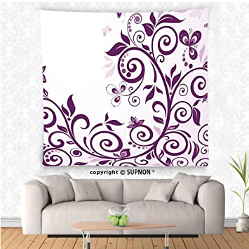 Amazon VROSELV Custom Tapestry Purple Decor Collection Growing Cool Wall Bedroom Decor Concept Collection