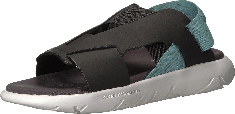 Amazon.com | adidas Y-3 by Yohji Yamamoto Women's Y-3 Qasa Elle Stretch  Sandal Utility Black/Vapour Steel/Crystal White 8 M UK | Tennis & Racquet  Sports