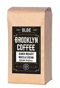 Dark Roast Whole Bean Coffee - 2LB Bag For A Classic Black Coffee, Breakfast, House Gourmet, Italian Espresso- Roasted in New York