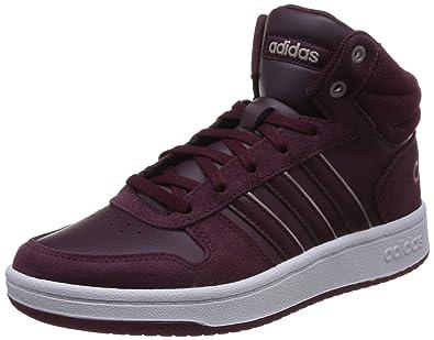 new style 23789 29848 adidas Damen Hoops 2.0 Mid Basketballschuhe Rot MaroonFtwwht, 36 23 EU