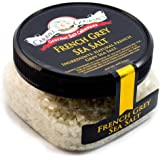French Grey Coarse Sea Salt - Pure Sea Salt From The Coastal Waters Of Brittany France Solar Evaporated Naturally Infused W/ Mineral Rich Edible Clay Gluten Free No-MSG Non GMO -4 Ounces Stackable Jar