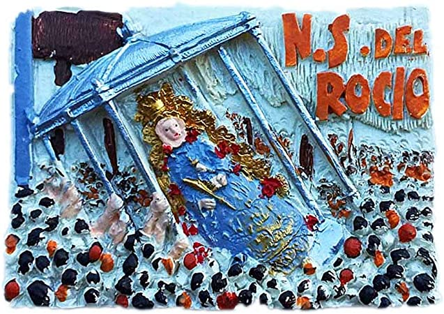 Rocio Virgen de Ronda España 3D Imán de nevera Artesanía Recuerdo Resina Refrigerador Imanes Colección Regalo de viaje: Amazon.es: Hogar