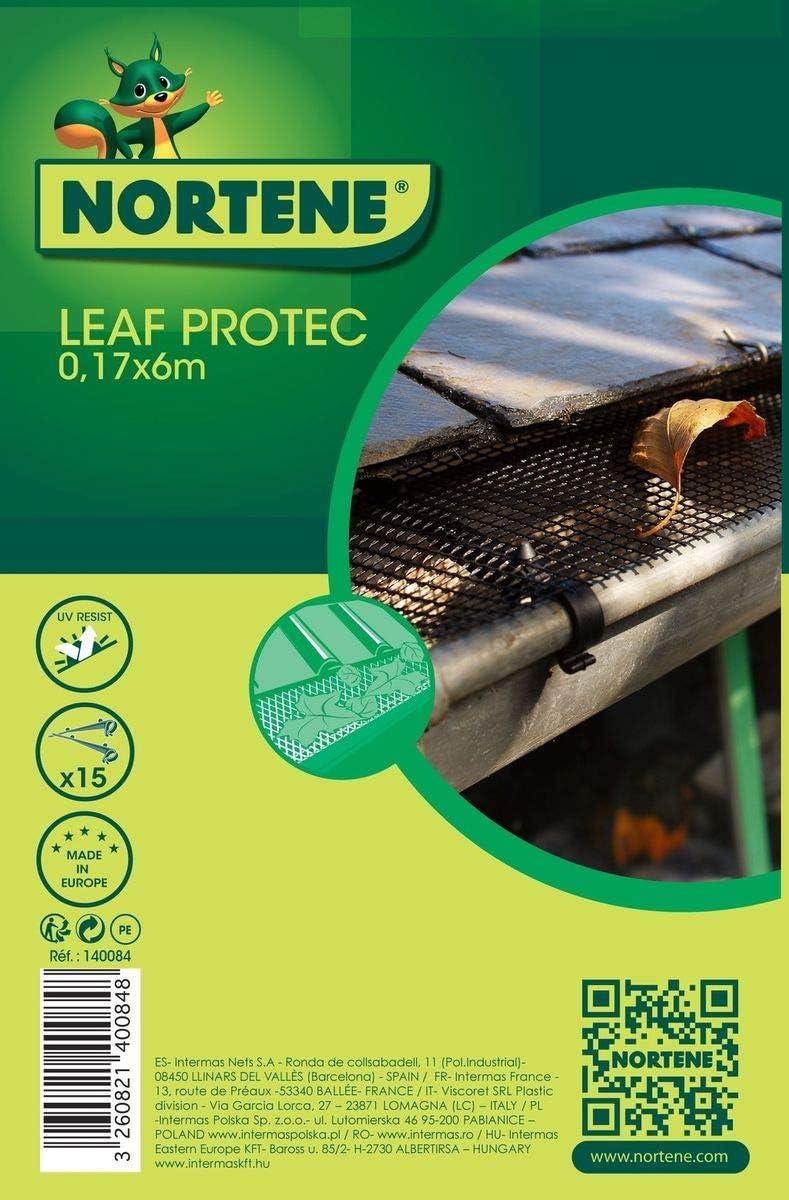 NORTENE 140084 6 M x 17 cm, diseño de Hojas Protector de canaletas ...