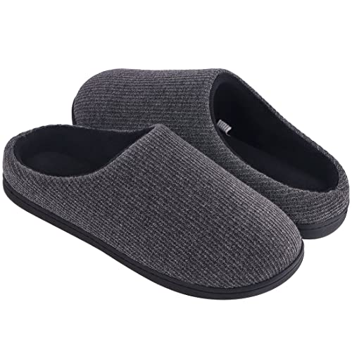 NEW Womens Memory Foam Slippers Small 5-6 House Shoes Black Scuffs Washable