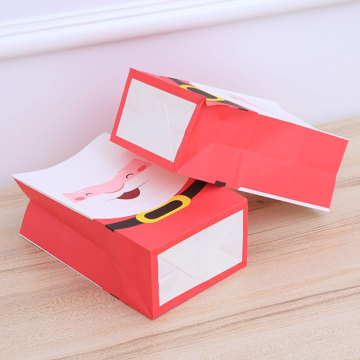 STOBOK No/ël Santa Kraft Papier Sac Cadeau Coffret G/âter Boites De Noel Fav 24pcs