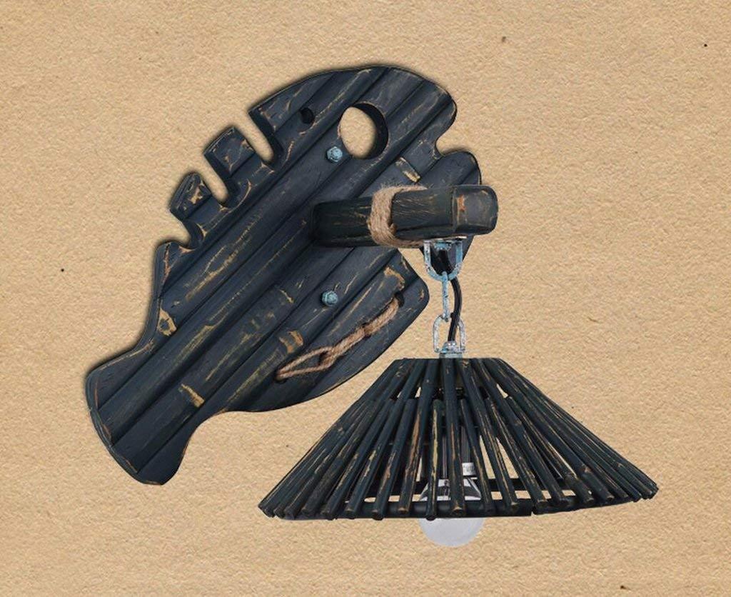 HH Muebles para el hogar Lámpara de Pared Vintage Lámpara de Pared Vintage Café de Madera Lámpara de Pared Lámpara de Pared de Personalidad Creativa