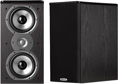 Polk Audio TSi200 Bookshelf Speakers Pair, Black
