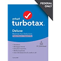 TurboTax Deluxe 2020 Physical Disc Deals