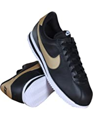 884412-001 MEN CORTEZ BASIC LEATHER SE NIKE BLACK GOLD
