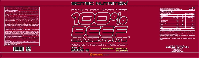 BEEF Protein Konzentrat 2000 g MANDEL-SCHOKOLADE: Amazon.es: Alimentación y bebidas