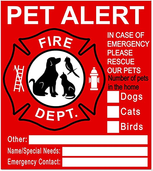 RESCUE OUR PETS 2 Decals /& Wallet Card Kit For Emergency Responders FREE SHIP