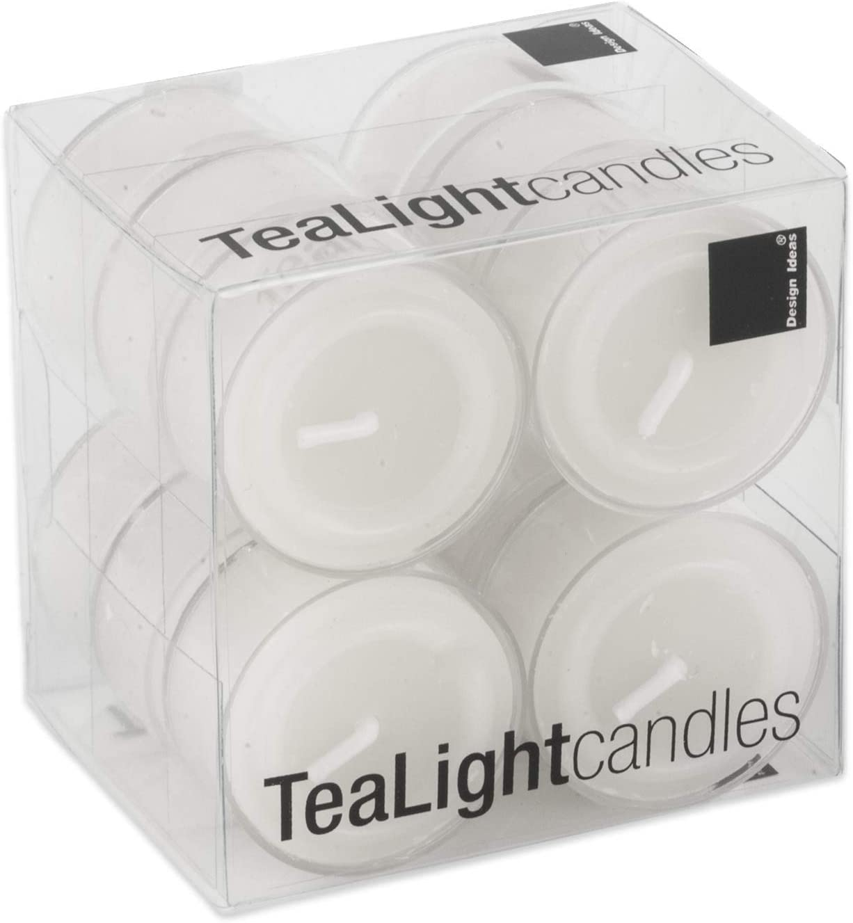 Box of 50 Design Ideas 912034 Clear Cup Tea Lights Ivory
