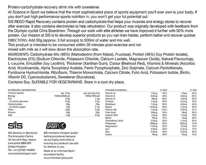 Science in Sport Batido de proteínas, Sabor Fresa - 1 x 1600 ...