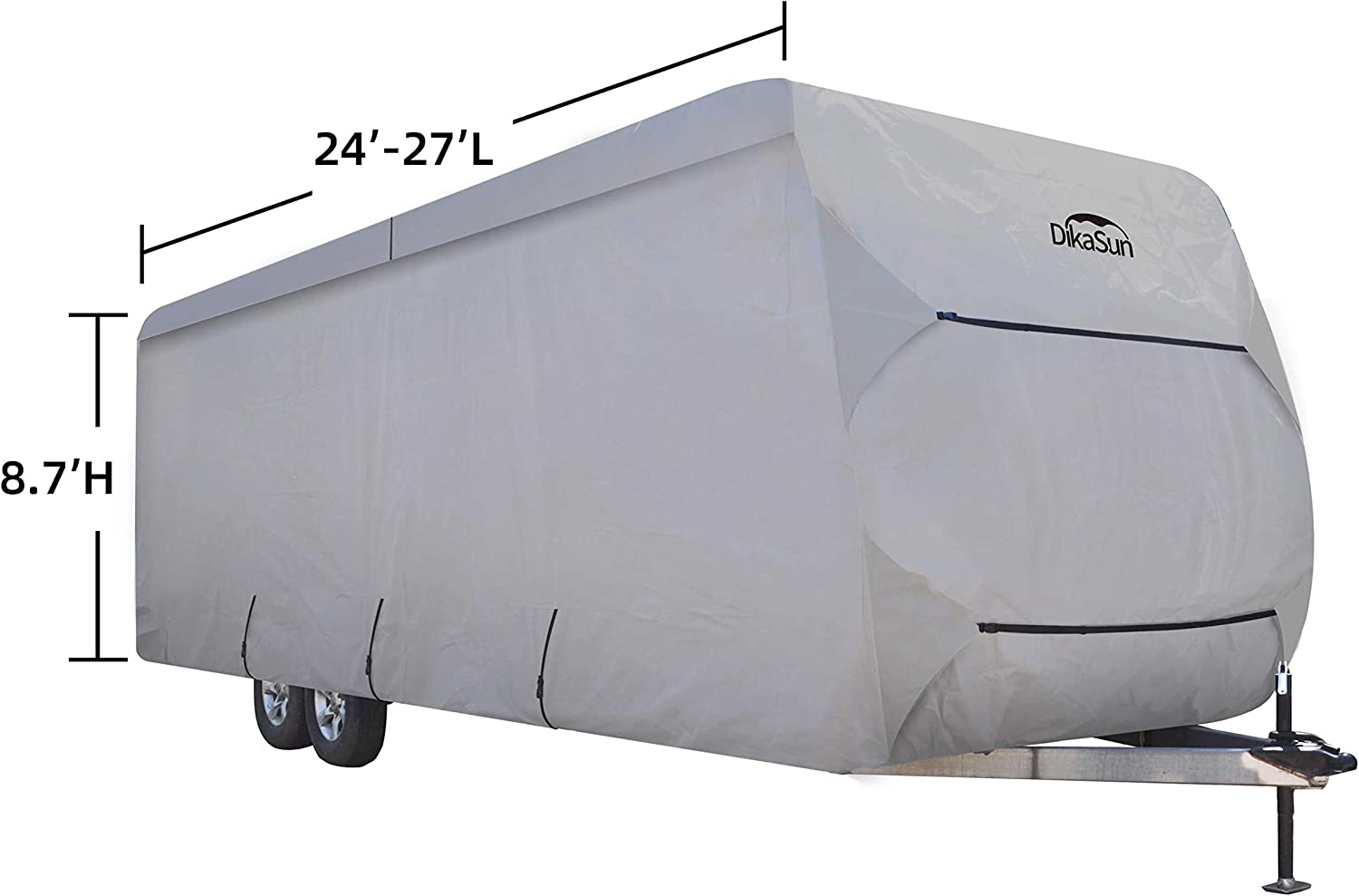 DikaSun Travel Trailer RV Cover PolyPro 3 Layer Anti-Dust Protection Windproof Anti-UV Block Cover fits 20ft