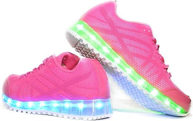 Envio 24 Horas Usay like Zapatillas LED Con 7 Colores Luces Carga USB Rosa Niña Chica Mujer Unisex R Talla 36 hasta 41 Envio Desde España (EU38): Amazon.es: Zapatos y complementos