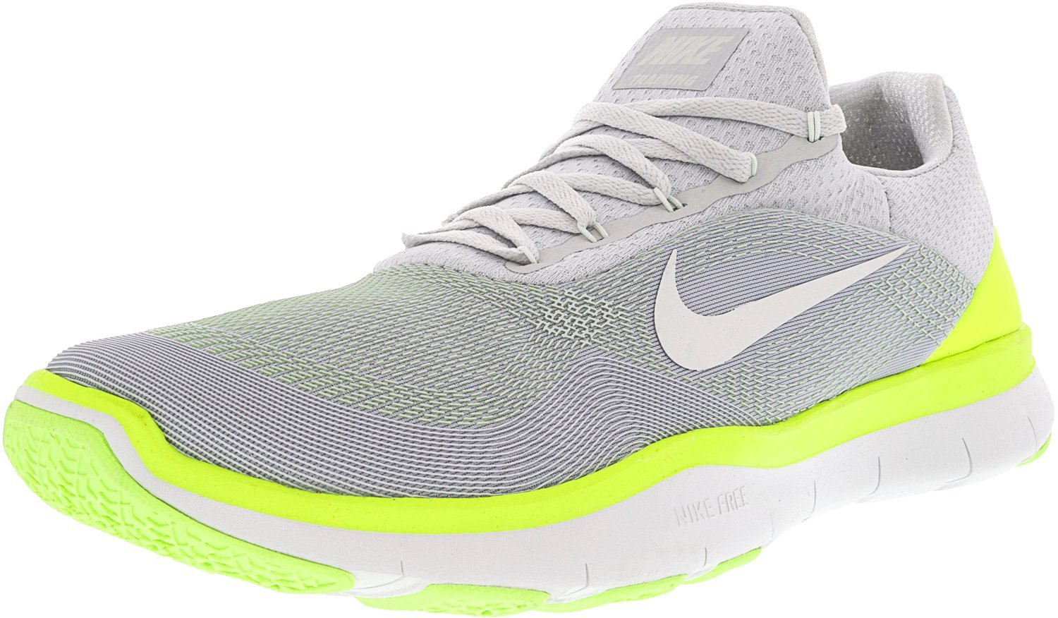 2f09ee2297cd0 Amazon.com: Nike Free Trainer v7 Pure Platinum/Volt/Ghost Green/Off-White  Men's Cross Training Shoes Size 10: Nike: Sports & Outdoors
