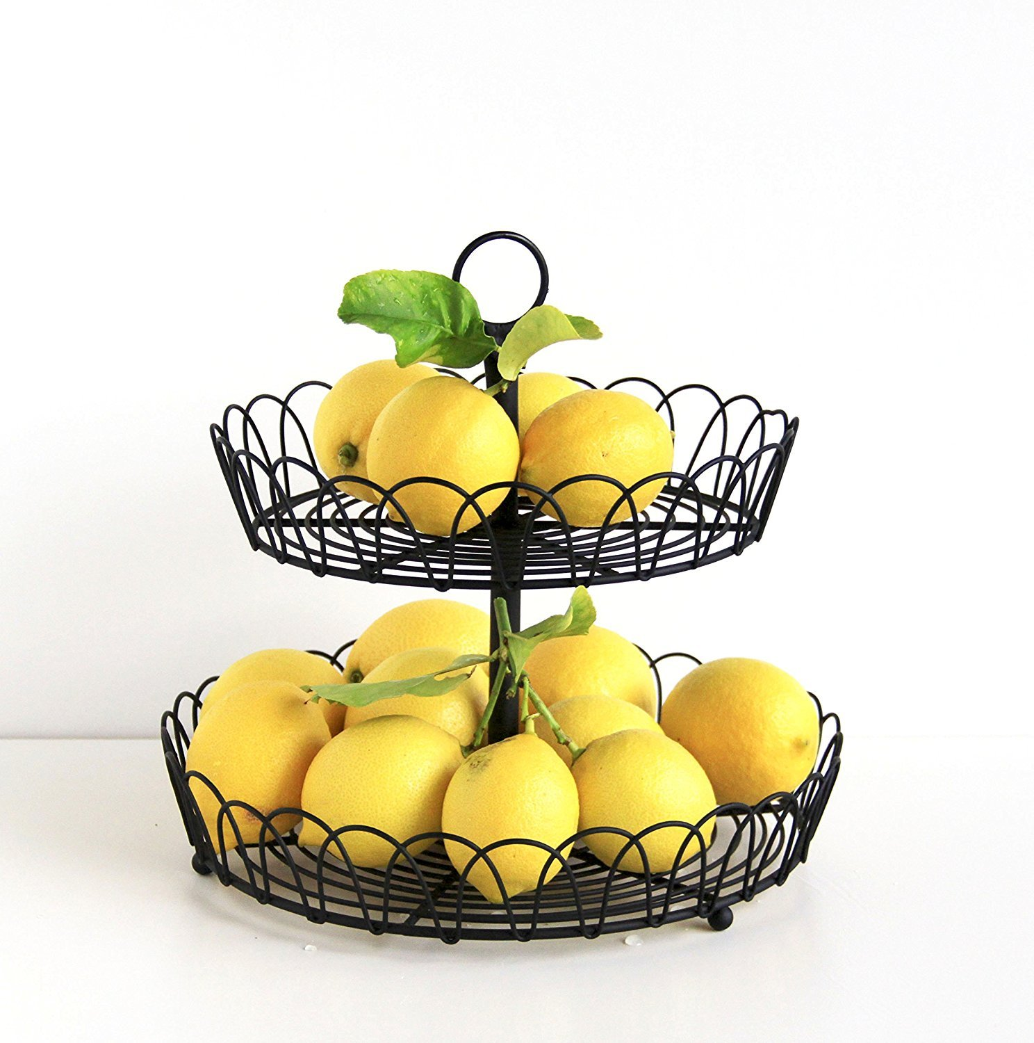 Amazon.com - Tagway Home Black Metal 2-Tiered Stand, Fruit Storage ...