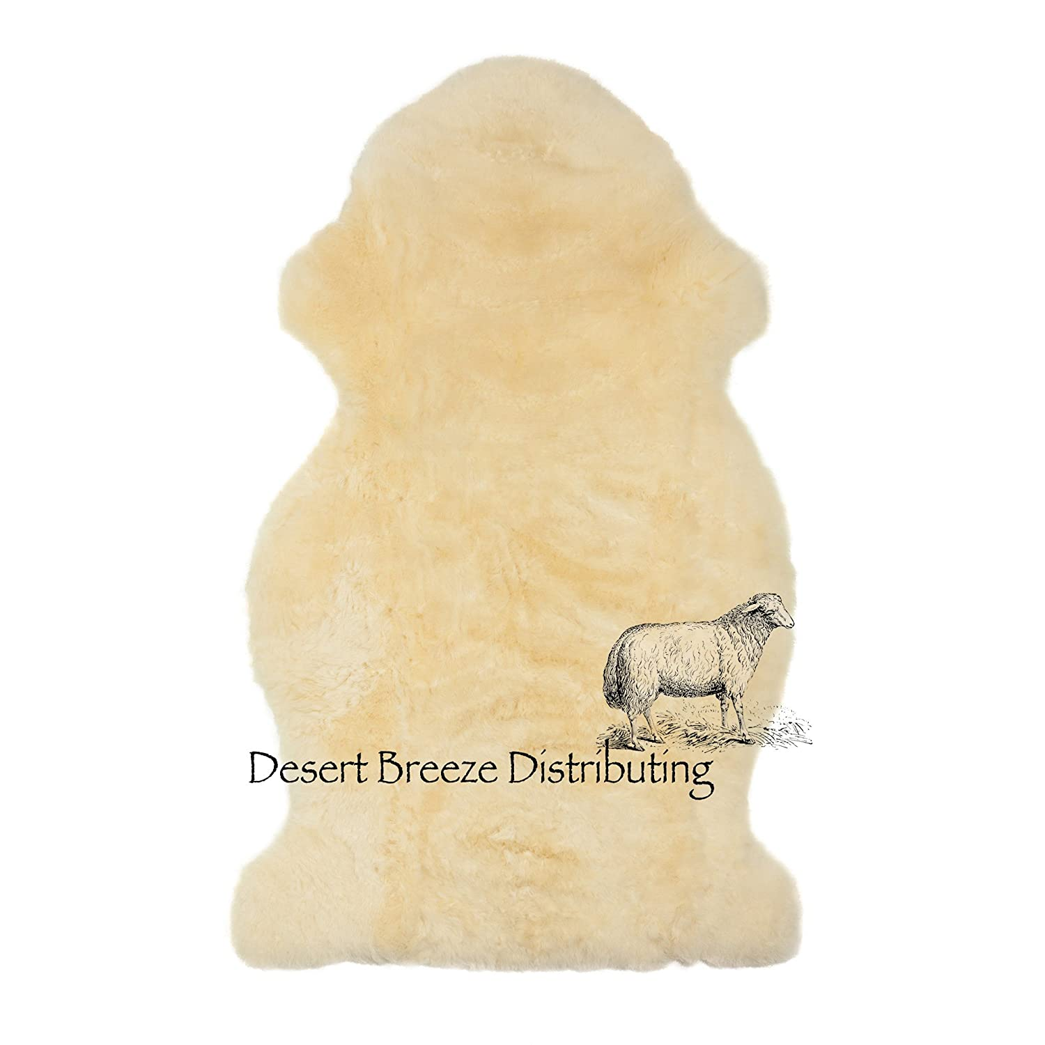 by Desert Breeze Distributing Soothing Comfort Year Round Size XL New Zealand Lambskin for Baby,100/% Natural and Luxuriously Soft Shorn Wool