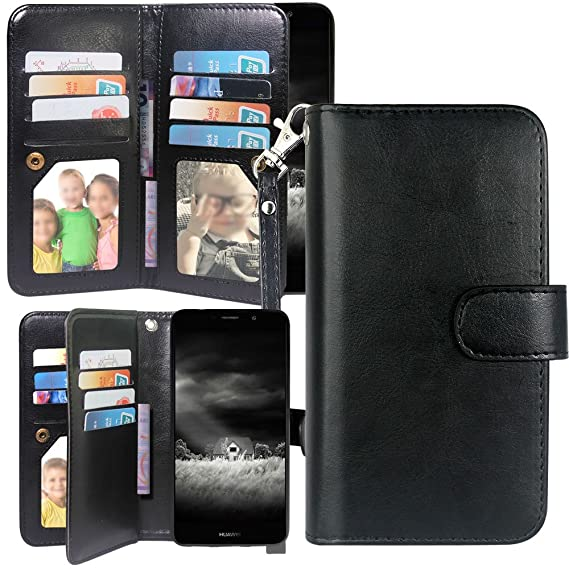 Huawei Ascend XT 2 Case, Huawei Elate 4G LTE Case,Harryshell Luxury 12 Card  Slots Kickstand Shockproof Protective PU Leather Wallet Flip Case Cover
