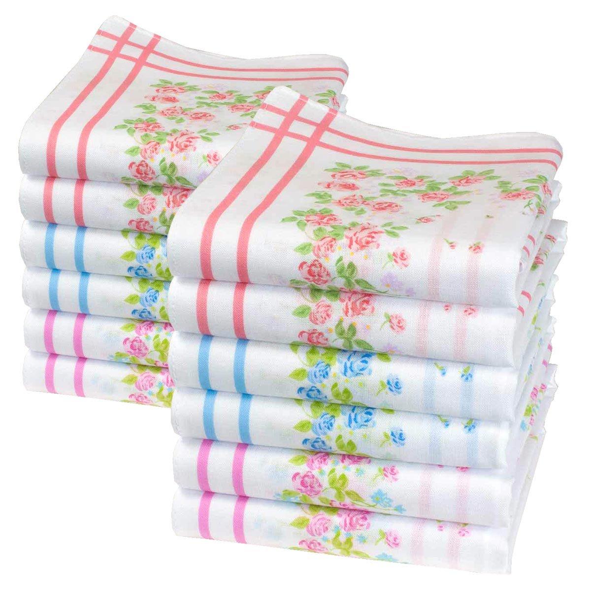 Fazzoletti di cotone da donna - 6 pezzi - Modello « Agnes» Merrysquare