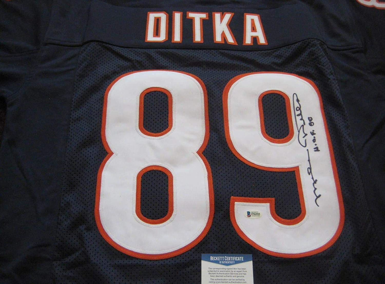 sports shoes 025ce fec2b Autographed Mike Ditka Jersey - BLUE w Beckett COA & HOF ...