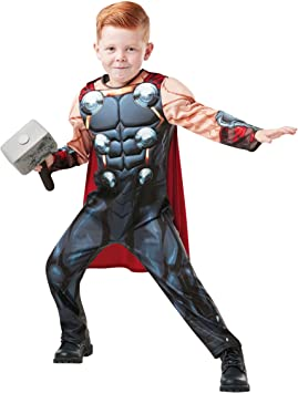 Rubies 640836M Marvel Avengers Thor Deluxe - Disfraz infantil para ...