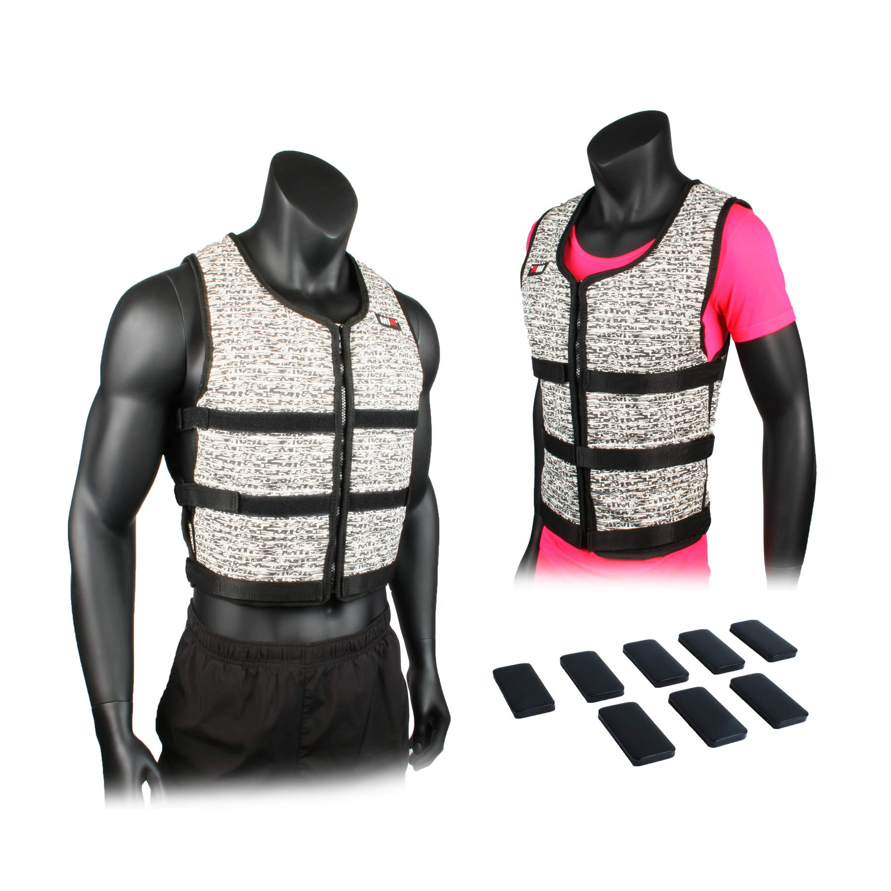 Mir Super Slim AIR Flow Adjustable Weighted Vest Machine Washable. for Men & Women (Black - 16LBS) by Mir (Image #1)