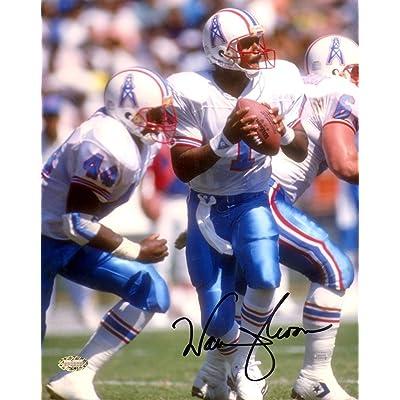 051436572 Warren Moon Signed Photograph - 8x10 Mcs Holo 129566 - Autographed NFL  Photos