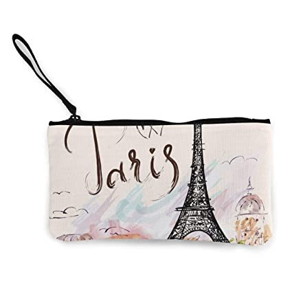 Billetera, Monederos, Paris Eiffel Tower Canvas Coin Purse ...