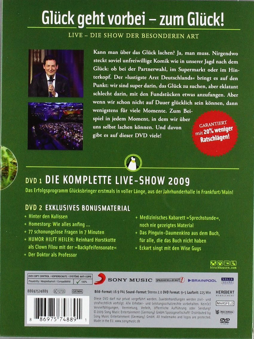 Eckart von Hirschhausen - Glück kommt selten allein 2 DVDs: Amazon ...
