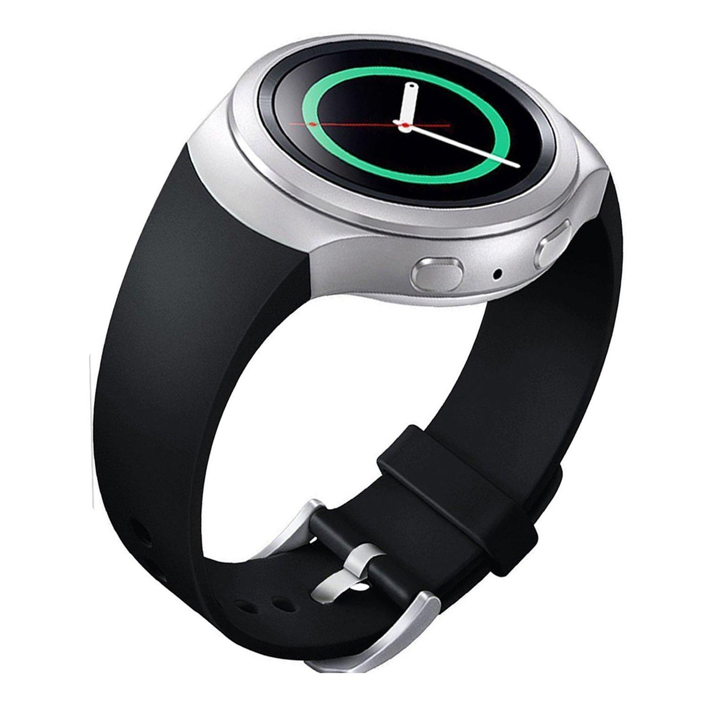 lakvomシリコンスポーツスタイル用時計バンドSamsung Gear s2 ブラック ブラック B01F6P7AQU