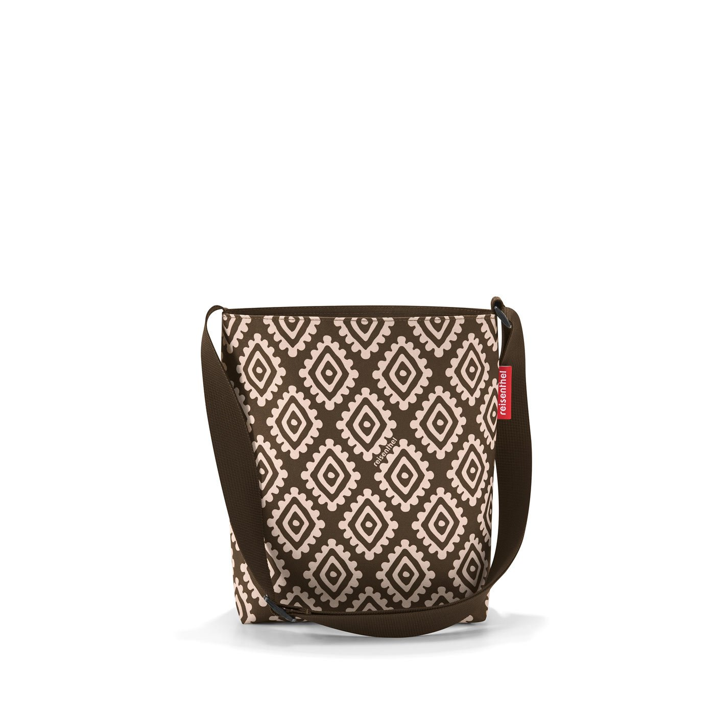 reisenthel shoulderbag S Diamonds Mocha Maße: 29 x 28,5 x 7,5 cm/Volumen: 4,7 l