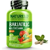 NATURELO Bariatric Multivitamin - One Daily with Iron - Supplement for Post Gastric Bypass Surgery Patients - Natural Whole F